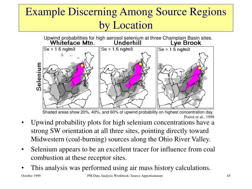 Example Discerning Among Source Regions by Location