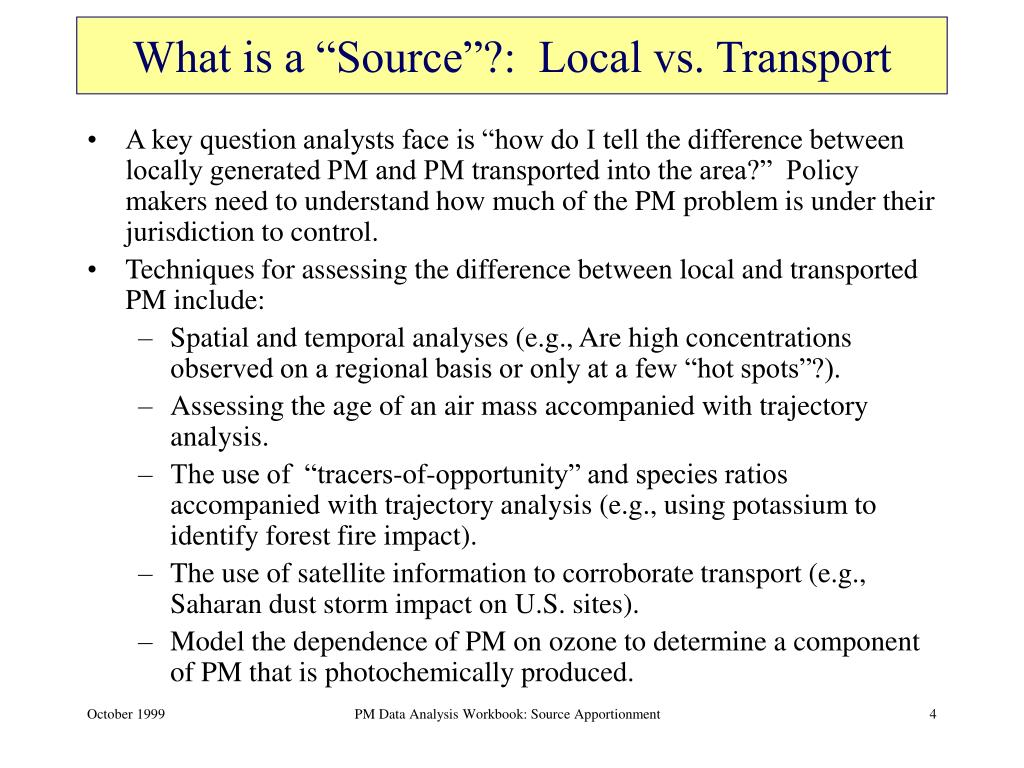 "What is a ""Source""?:  Local vs. Transport"