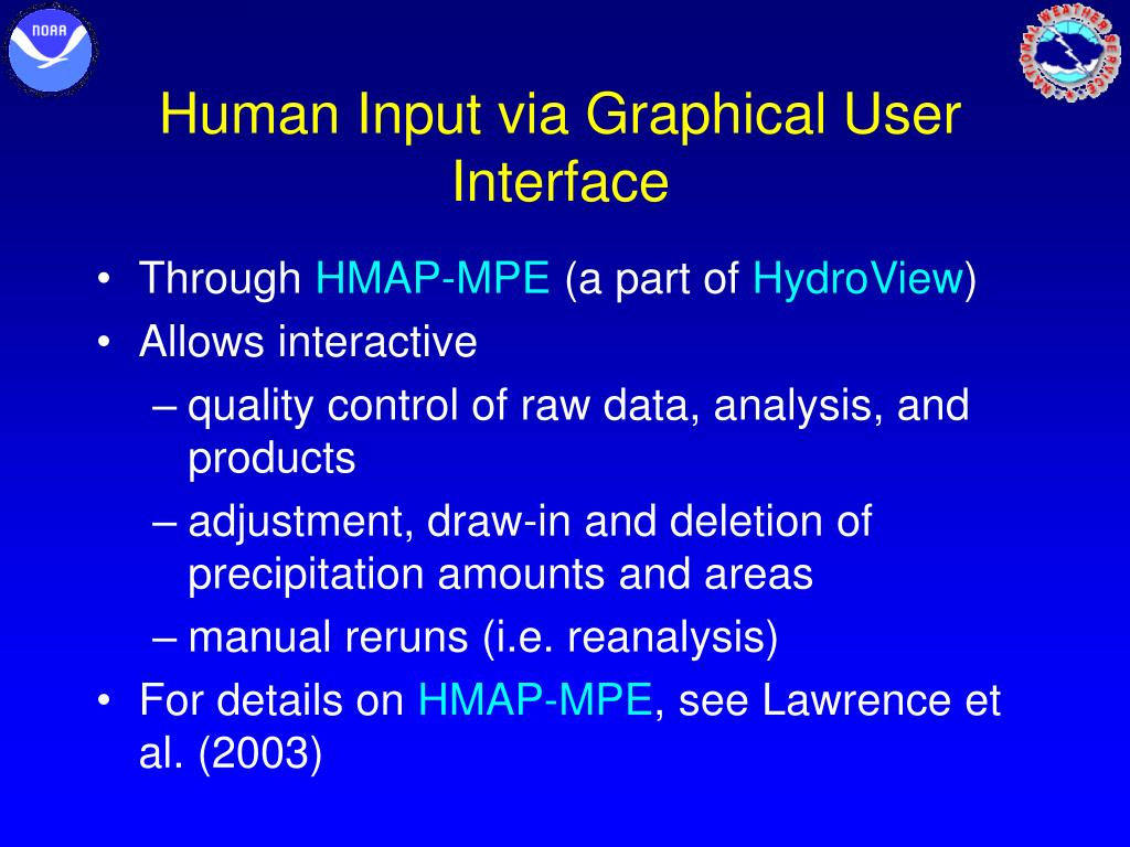 Human Input via Graphical User Interface