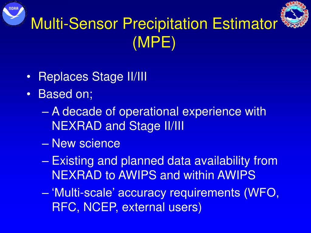 Multi-Sensor Precipitation Estimator (MPE)
