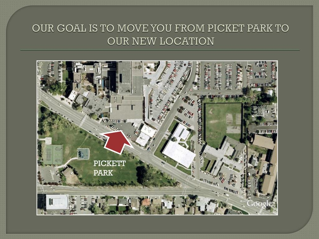 OUR GOAL IS TO MOVE YOU FROM PICKET PARK TO OUR NEW LOCATION