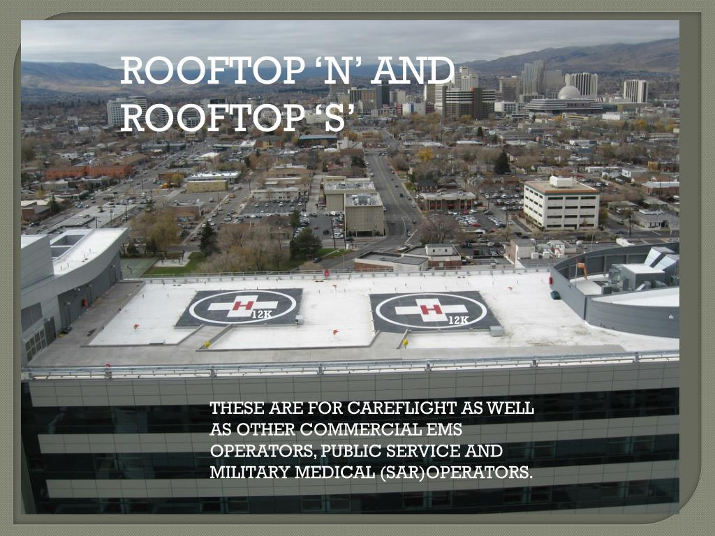 ROOFTOP 'N' AND ROOFTOP 'S'