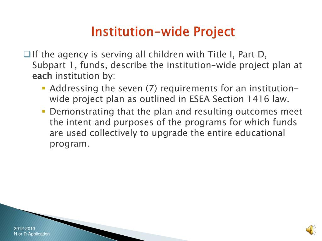 Institution-wide Project