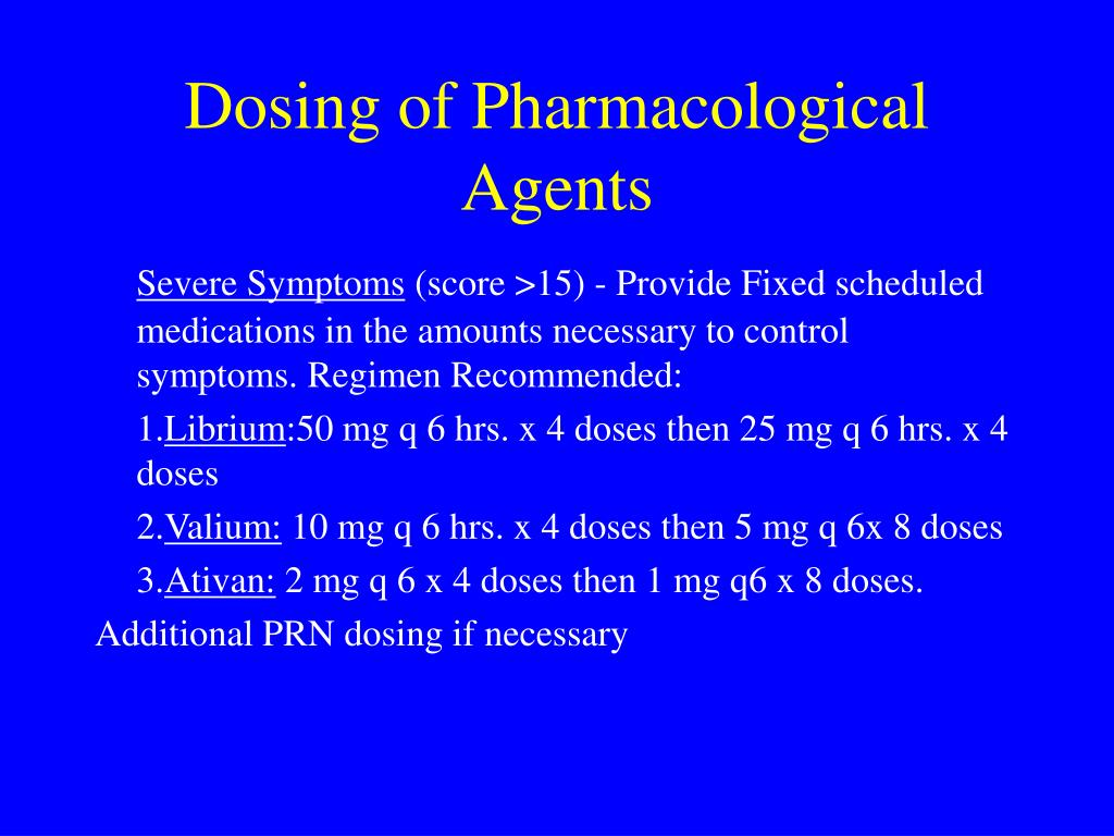 Dosing of Pharmacological Agents