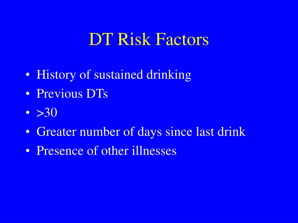 DT Risk Factors