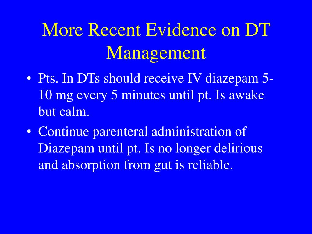 More Recent Evidence on DT Management