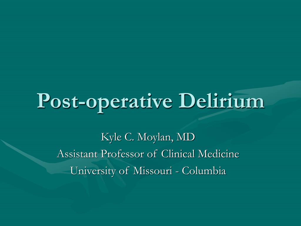 Post-operative Delirium