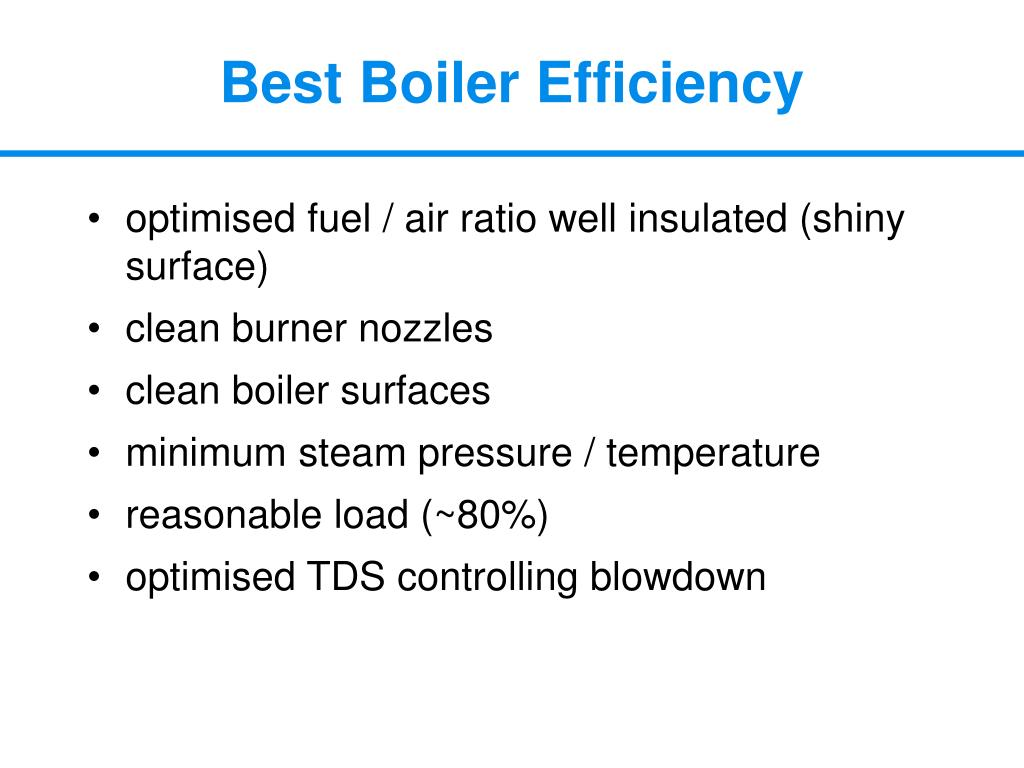 Best Boiler Efficiency