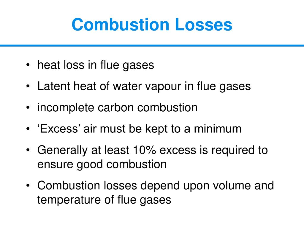 Combustion Losses