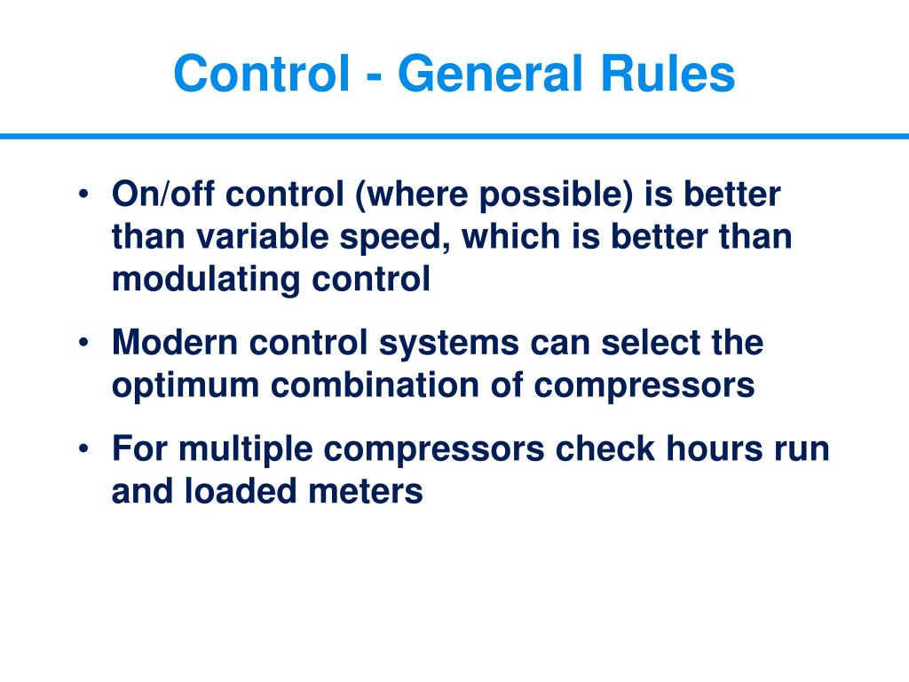 Control - General Rules