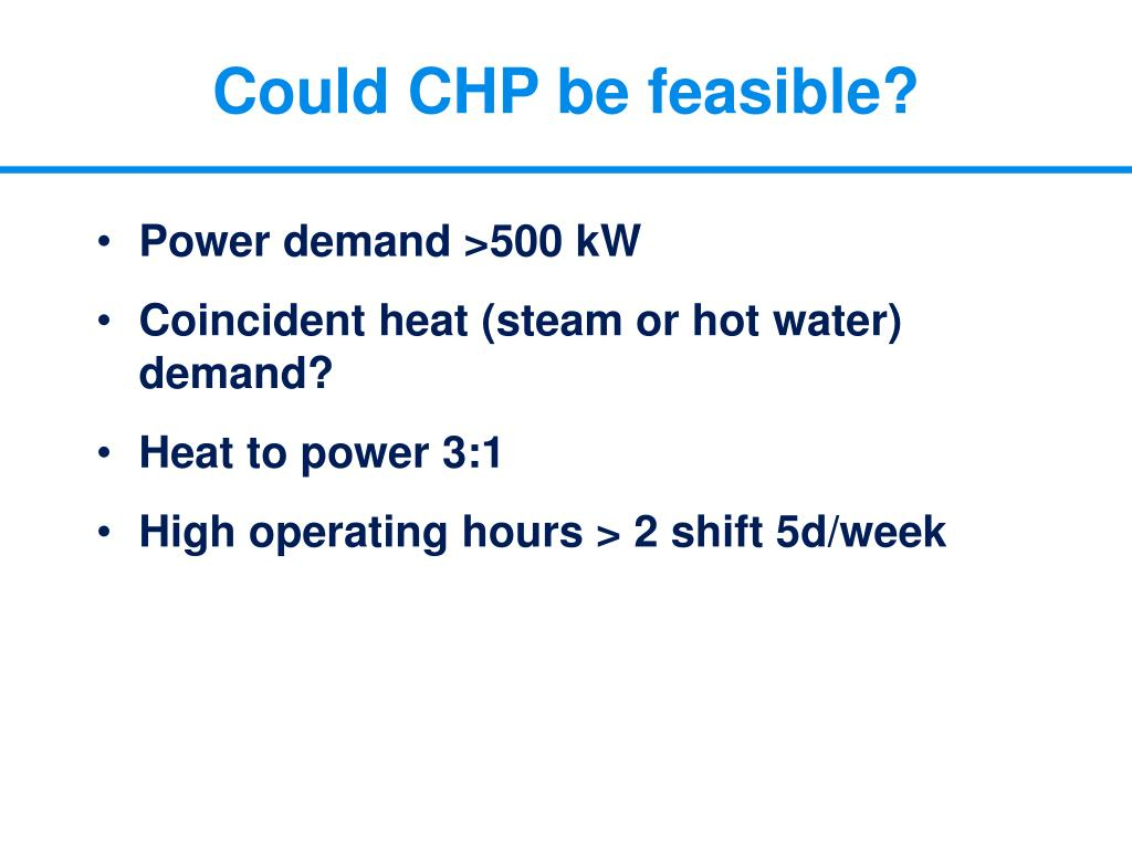 Could CHP be feasible?