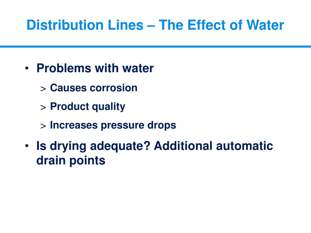 Distribution Lines – The Effect of Water