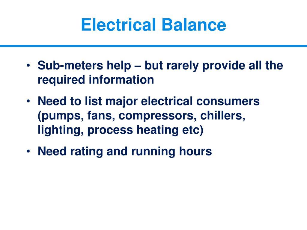 Electrical Balance
