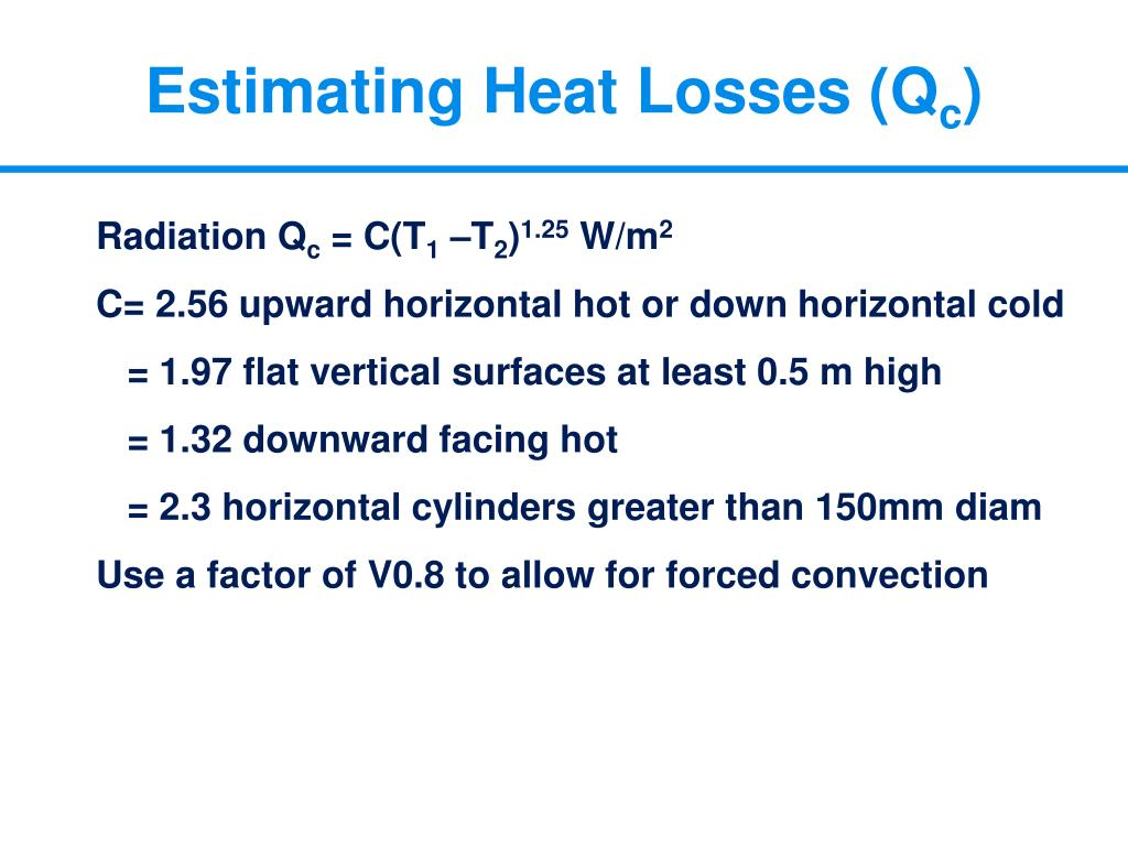 Estimating Heat Losses (Q