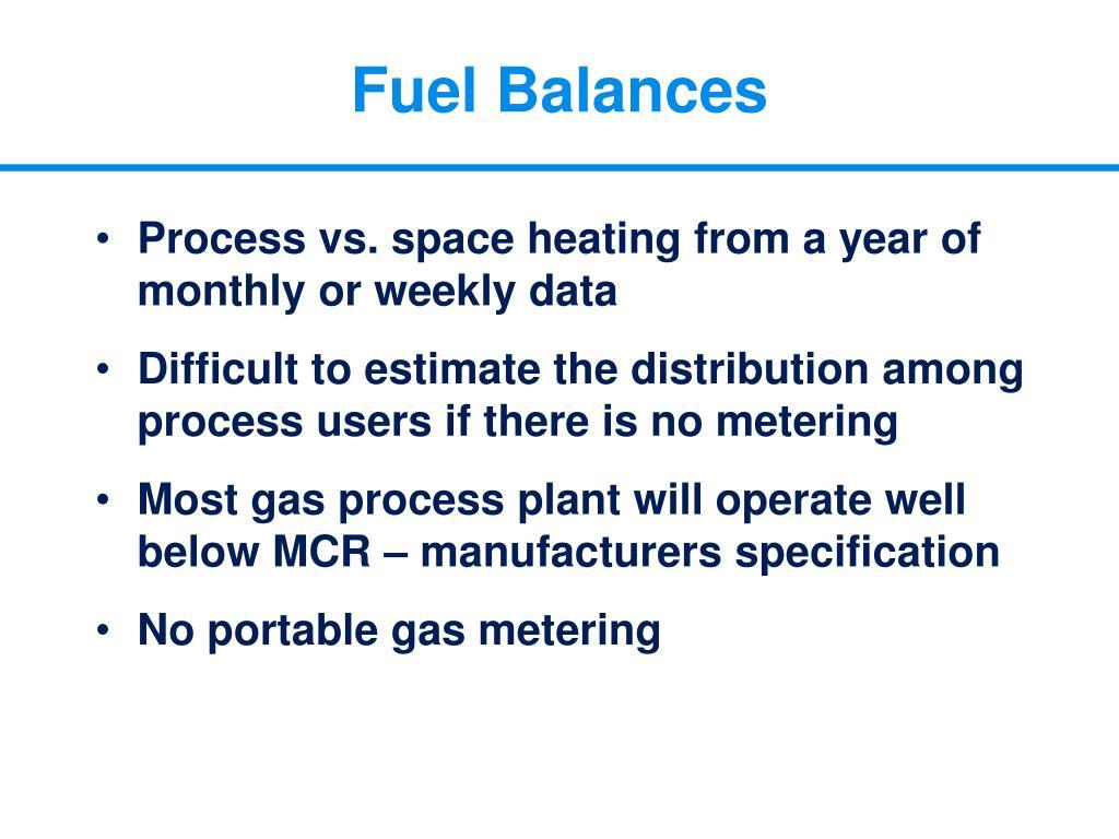 Fuel Balances
