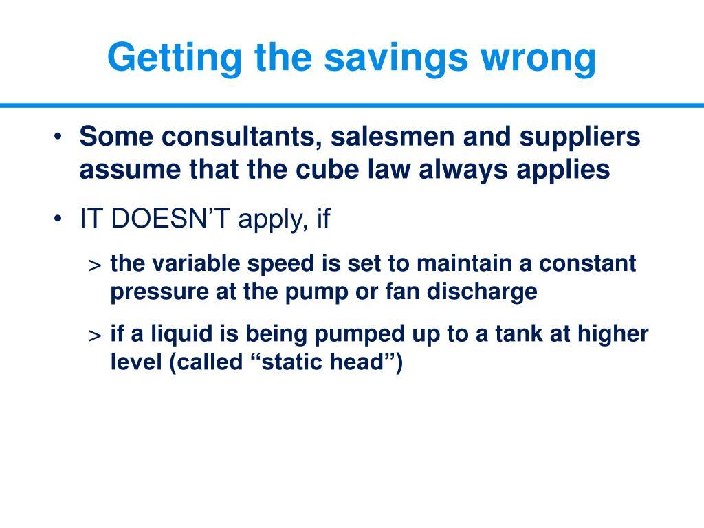 Getting the savings wrong