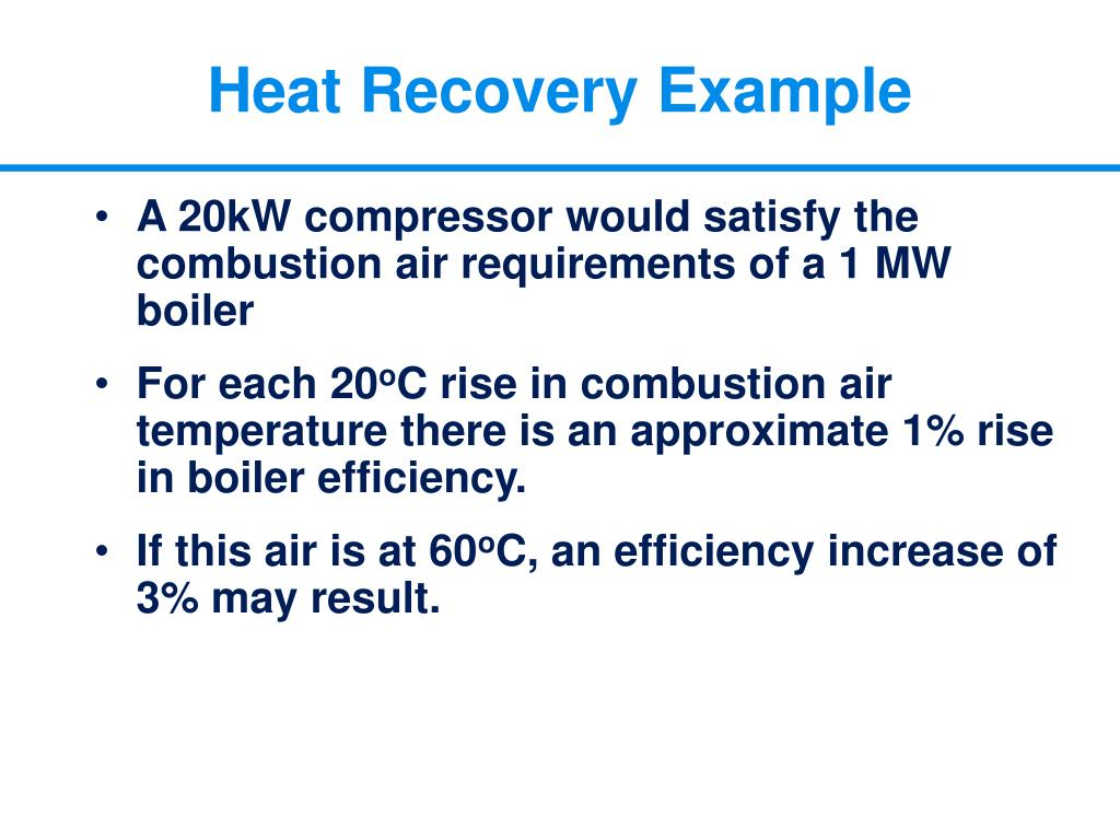 Heat Recovery Example