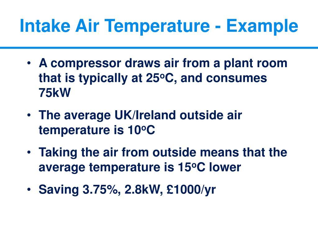 Intake Air Temperature - Example