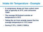 intake air temperature example