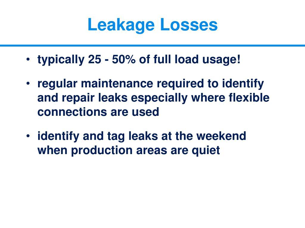 Leakage Losses
