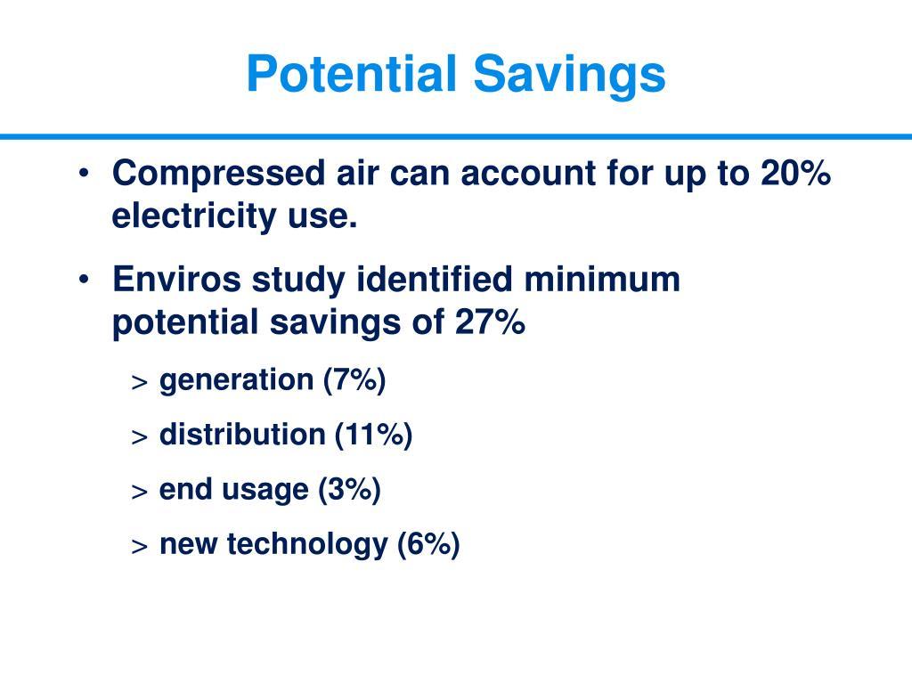 Potential Savings