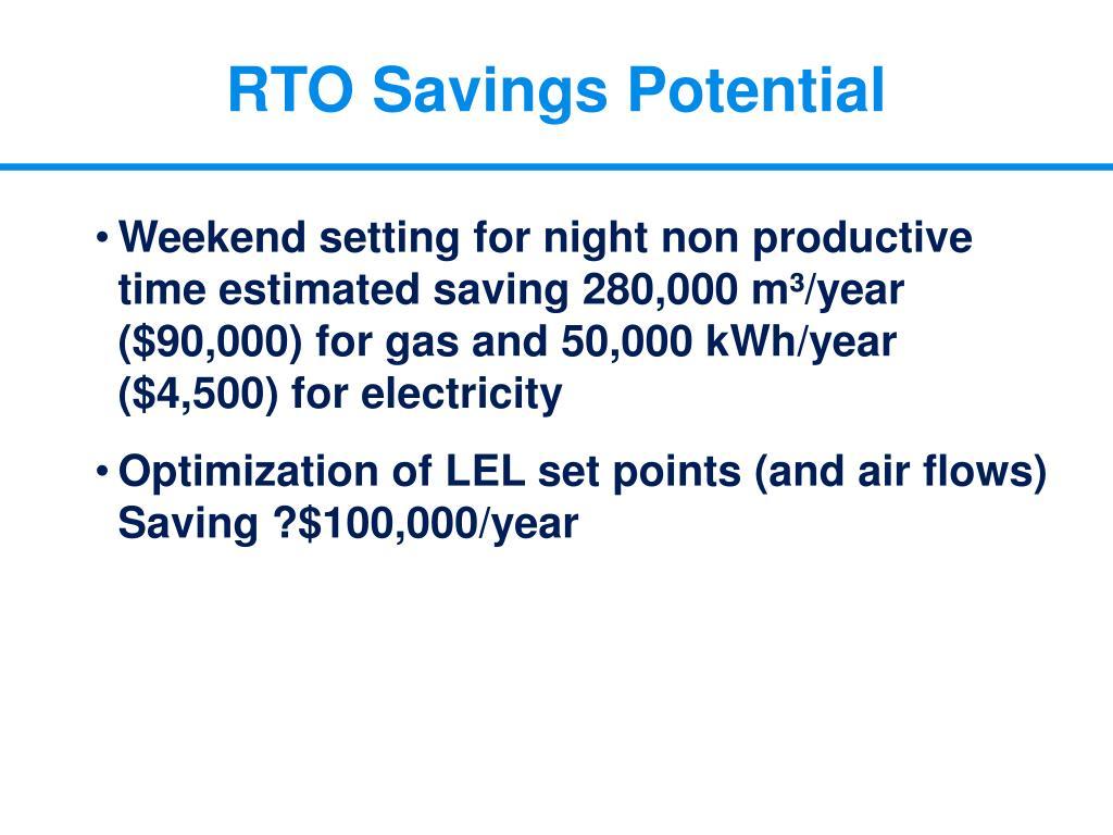 RTO Savings Potential