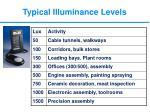 typical illuminance levels