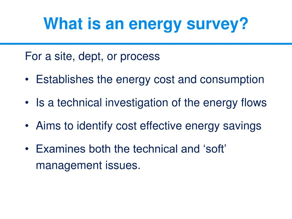 What is an energy survey?