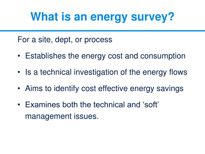 What is an energy survey