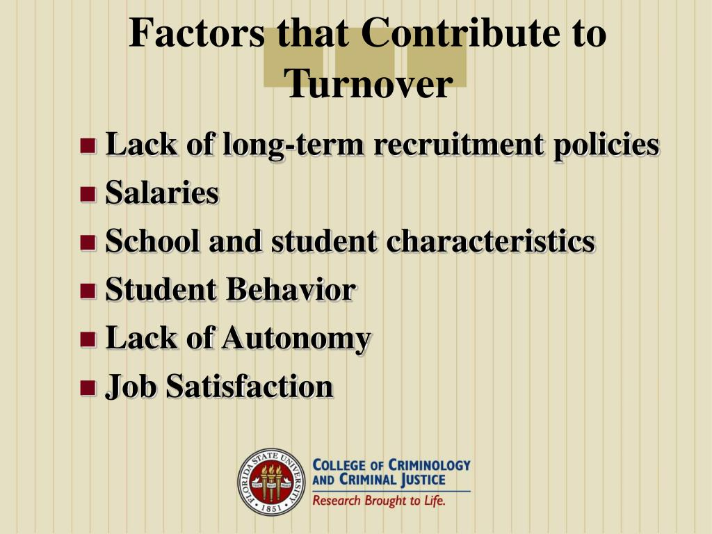 Factors that Contribute to Turnover