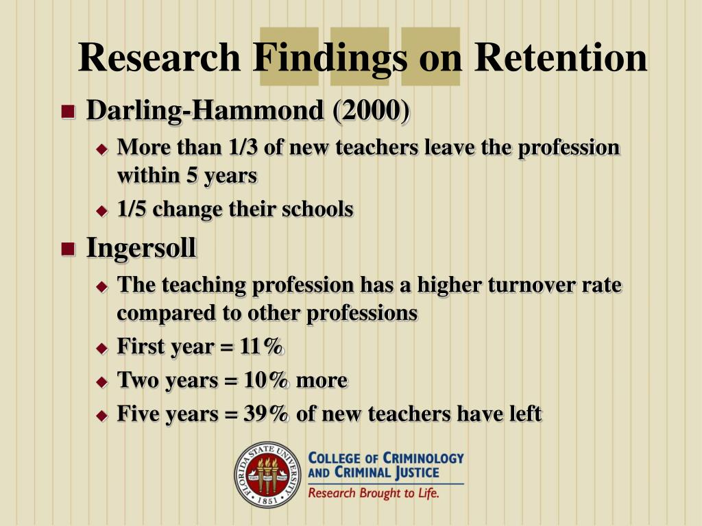 Research Findings on Retention