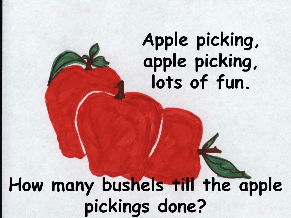 Apple picking, apple picking, lots of fun.