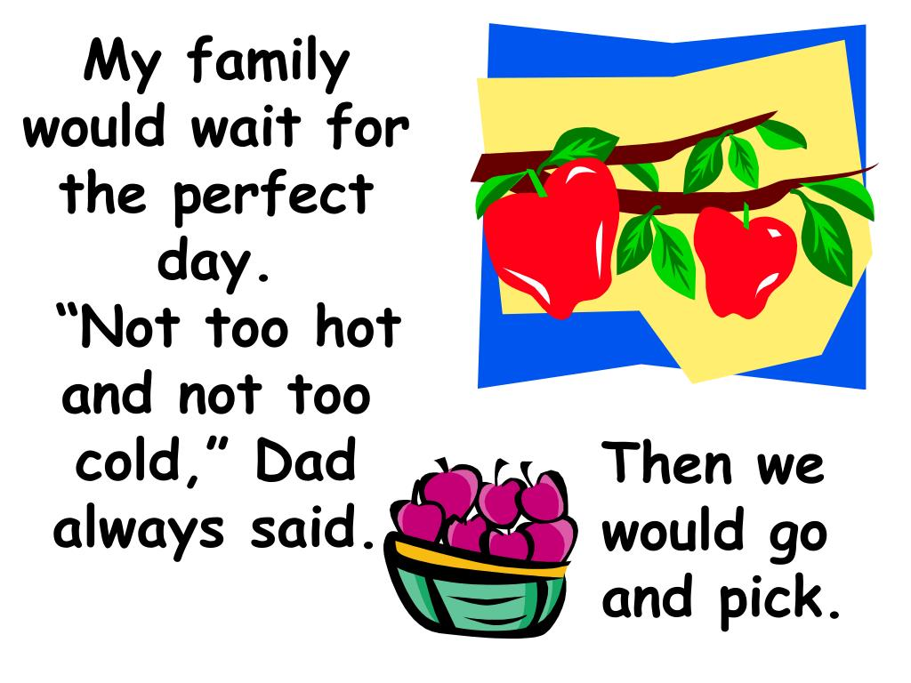 My family would wait for the perfect day.