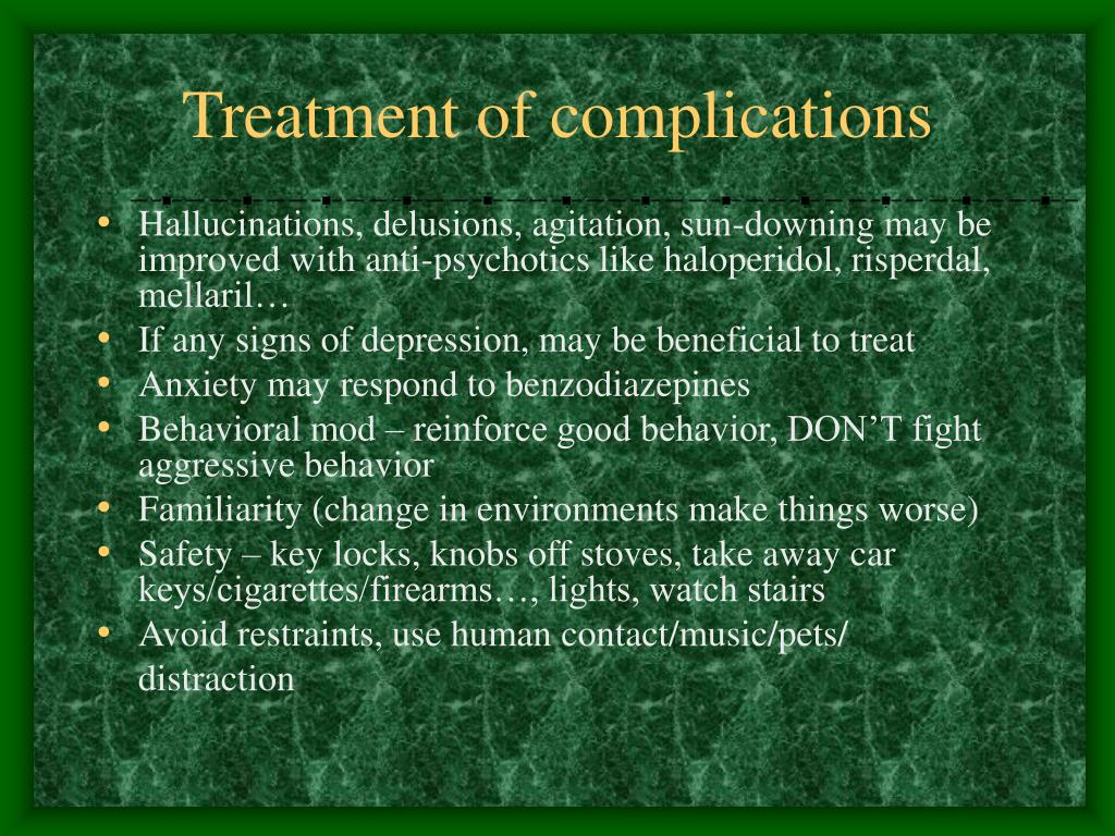 Treatment of complications