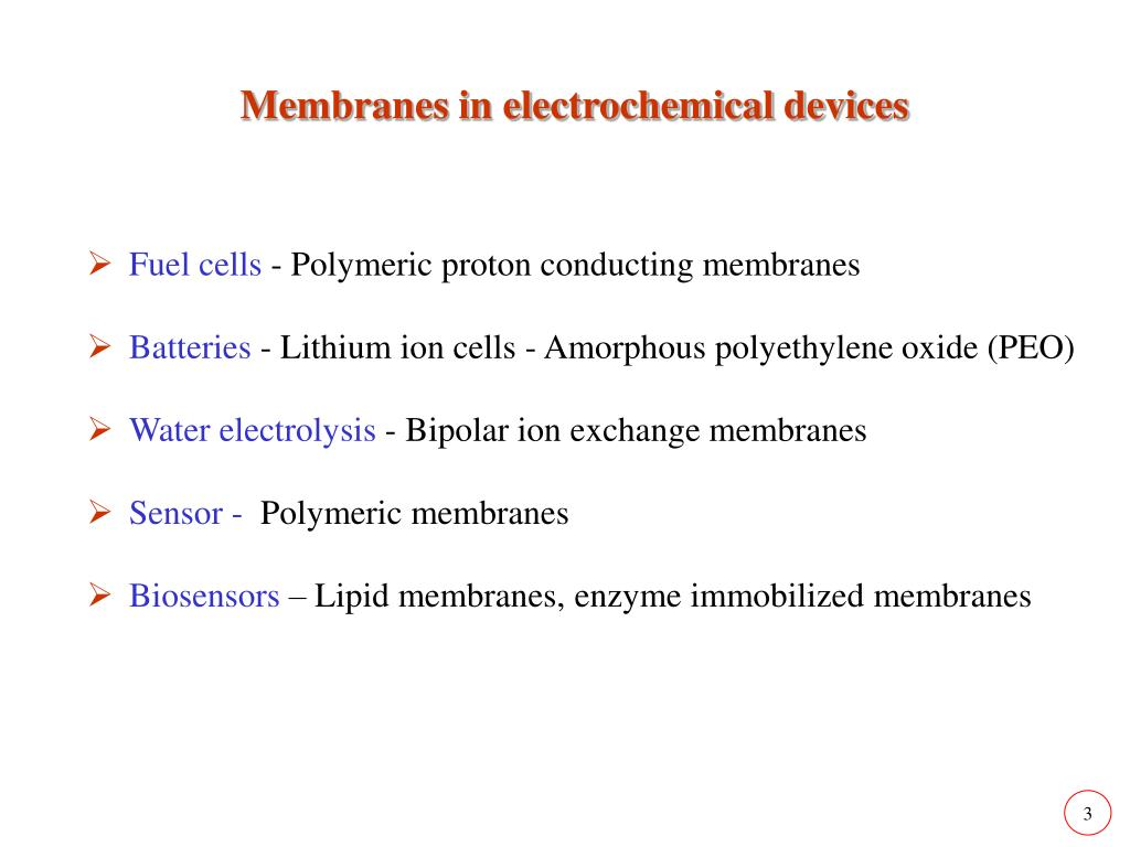 Membranes in electrochemical devices