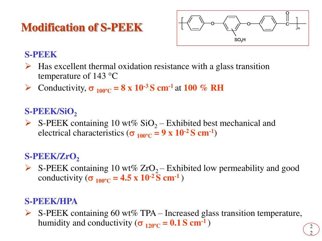 Modification of S-PEEK