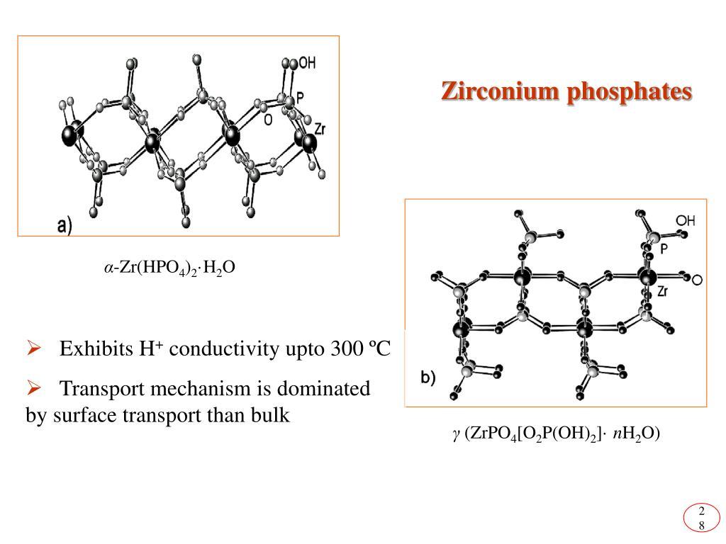 Zirconium phosphates