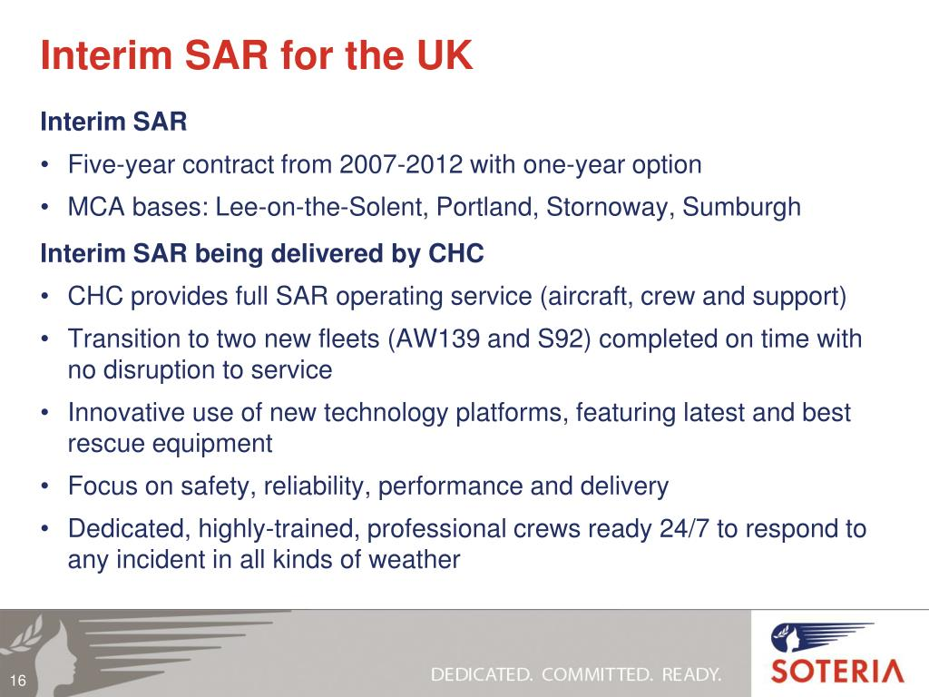 Interim SAR for the UK