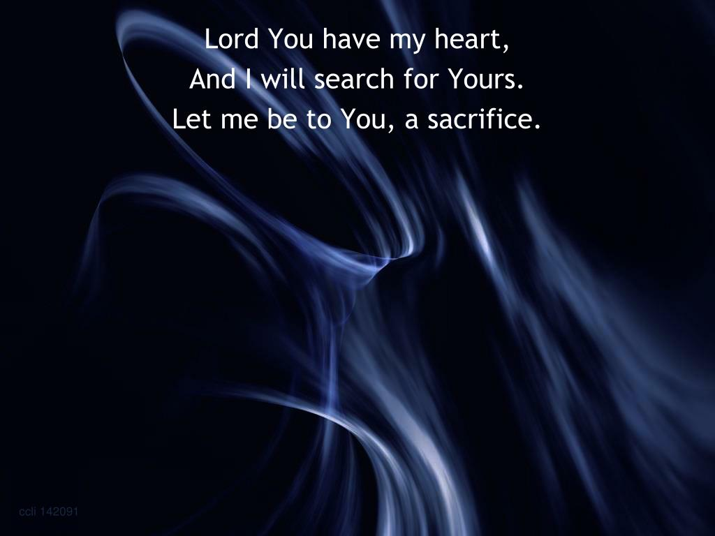 Lord You have my heart,