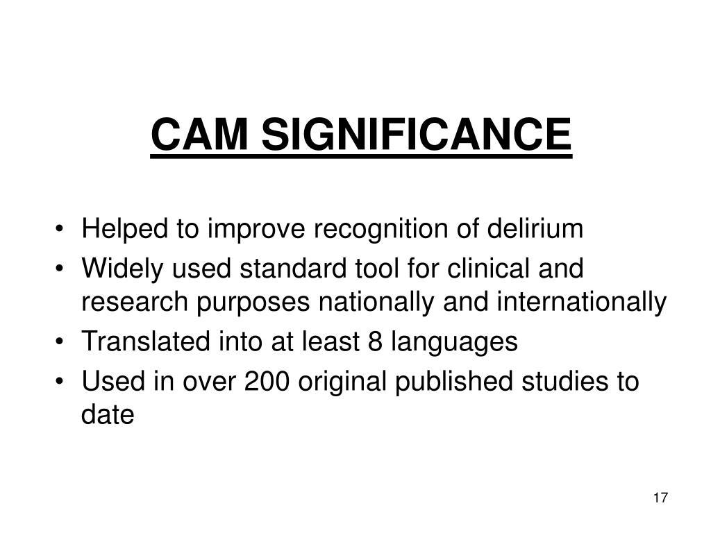 CAM SIGNIFICANCE