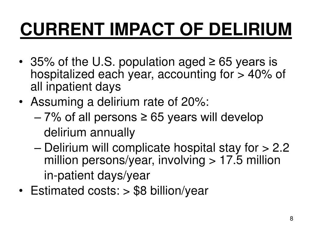 CURRENT IMPACT OF DELIRIUM