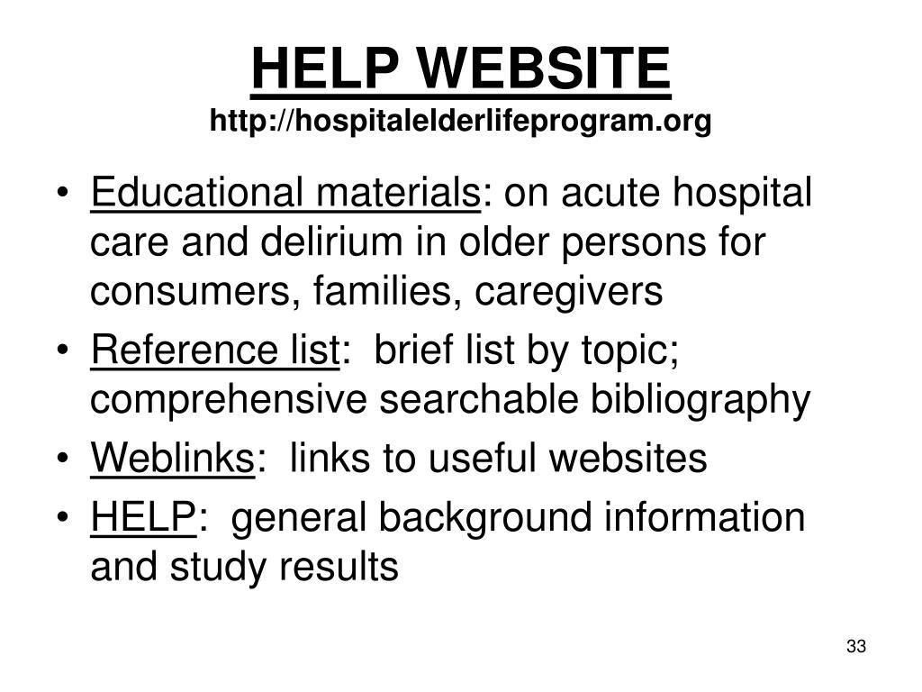 HELP WEBSITE