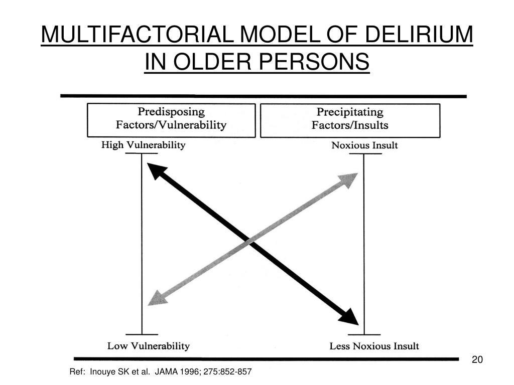 MULTIFACTORIAL MODEL OF DELIRIUM IN OLDER PERSONS