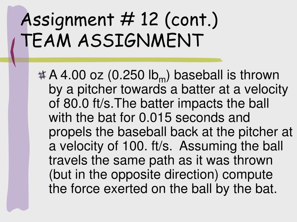 Assignment # 12 (cont.)