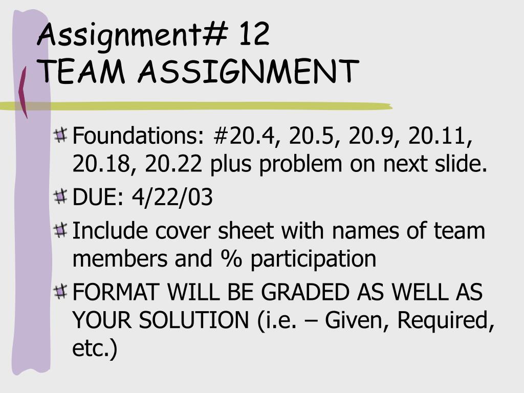 Assignment# 12