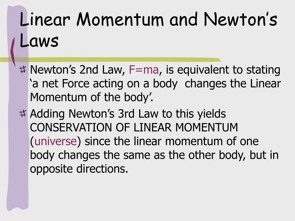 Linear Momentum and Newton's Laws