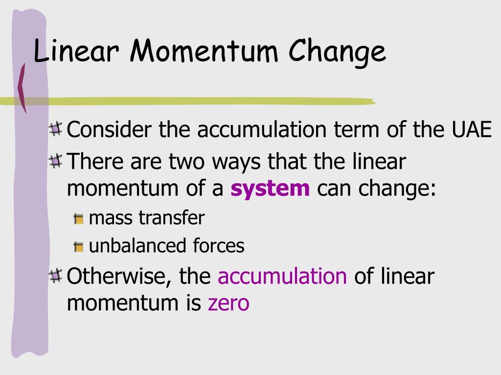 Linear Momentum Change