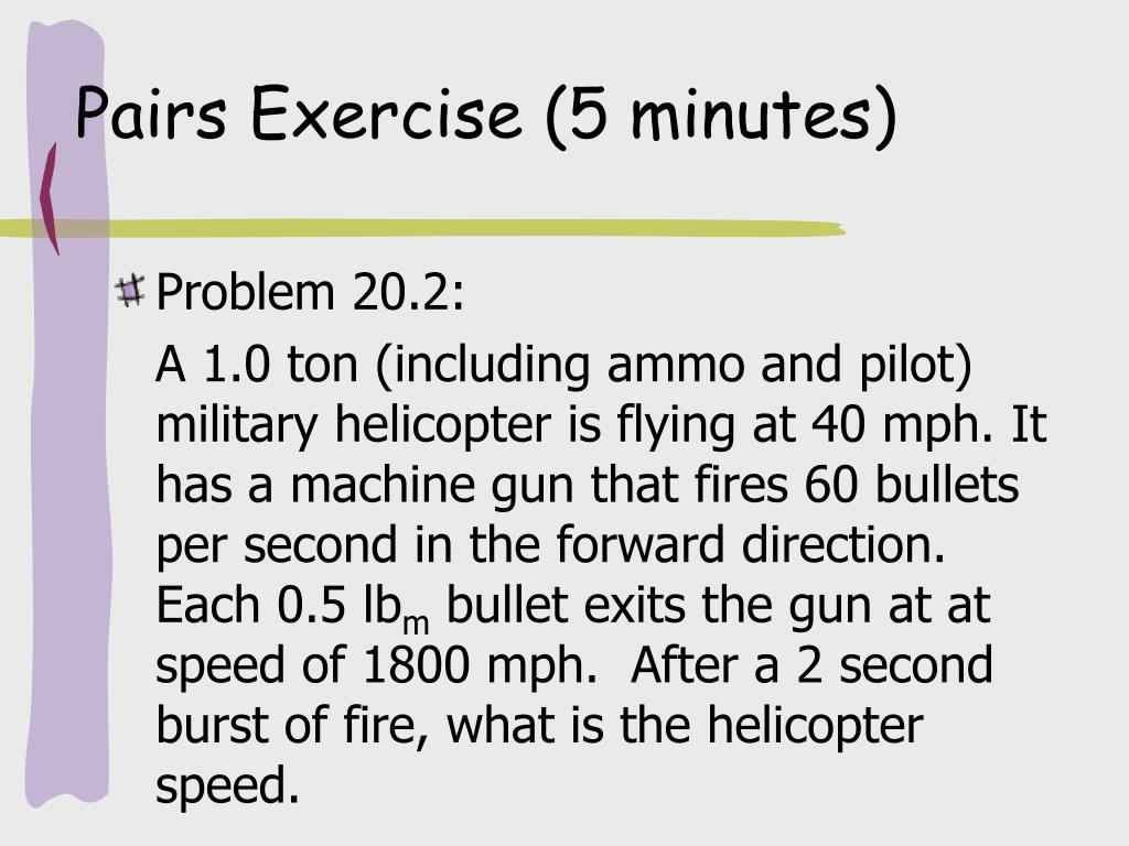 Pairs Exercise (5 minutes)