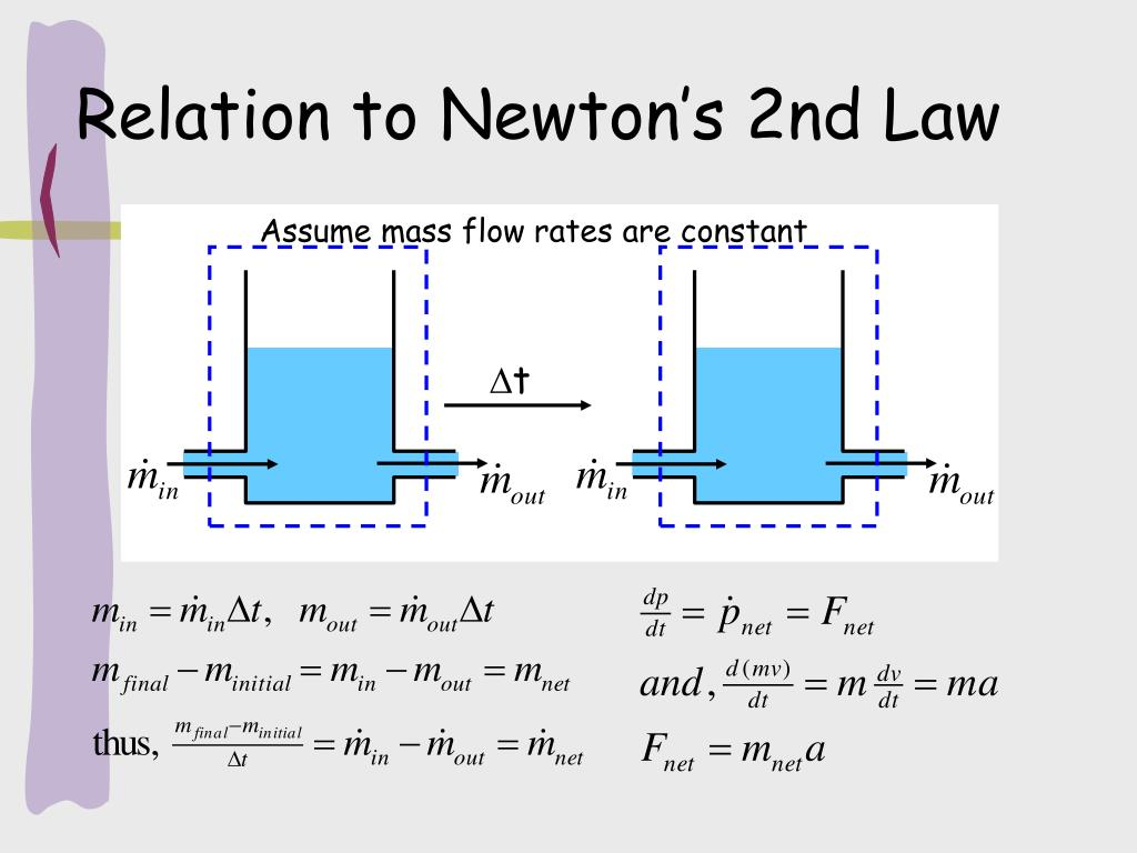 Assume mass flow rates are constant