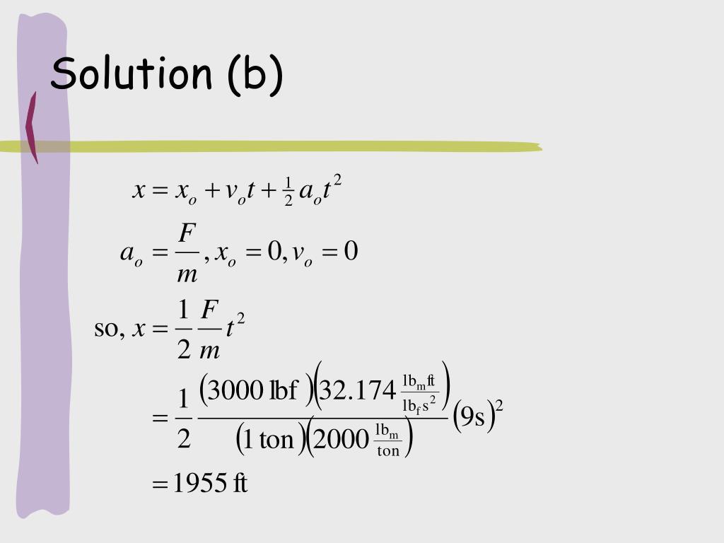 Solution (b)